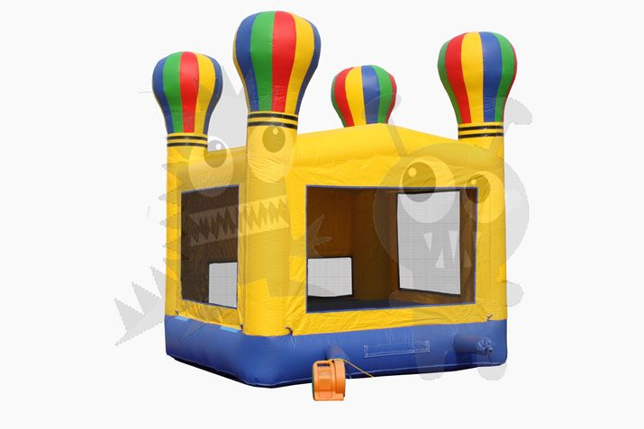 13x13 Hot Air Balloon Bounce House Jumper with Basketball Hoop Commercial Inflatable For Sale