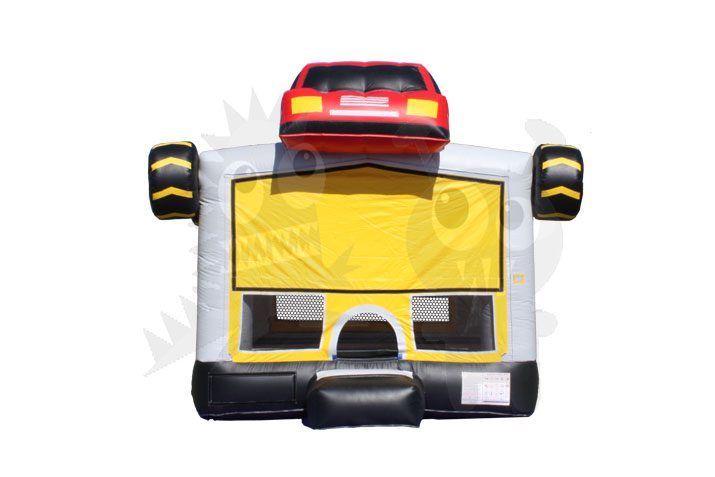13x13 Monster Truck Bounce House Jumper with Basketball Hoop Commercial Inflatable For Sale