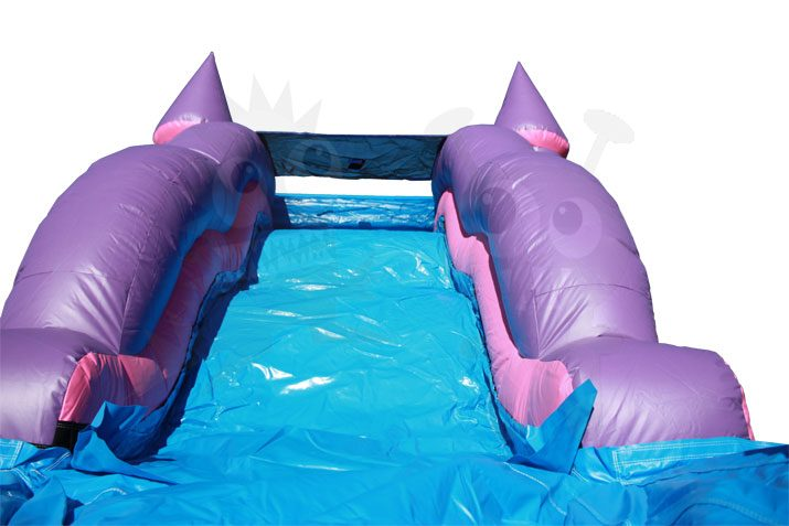 Pink Purple Castle 5-in-1 Combo Bounce House Jumper Wet/Dry with Slide Pool and Basketball Hoop Commercial Inflatable For Sale