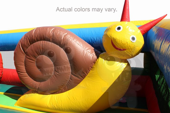 Multicolor Colorful Snail Garden Inflatable Obstacle Course Commercial Inflatable For Sale