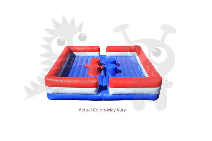 Inflatable Sports Quad Jousting Red White Blue Commercial Inflatable For Sale