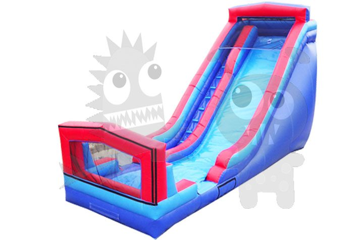 18' Inflatable Wet or Dry Water Slide Art Panel Single Lane Commercial Inflatable For Sale