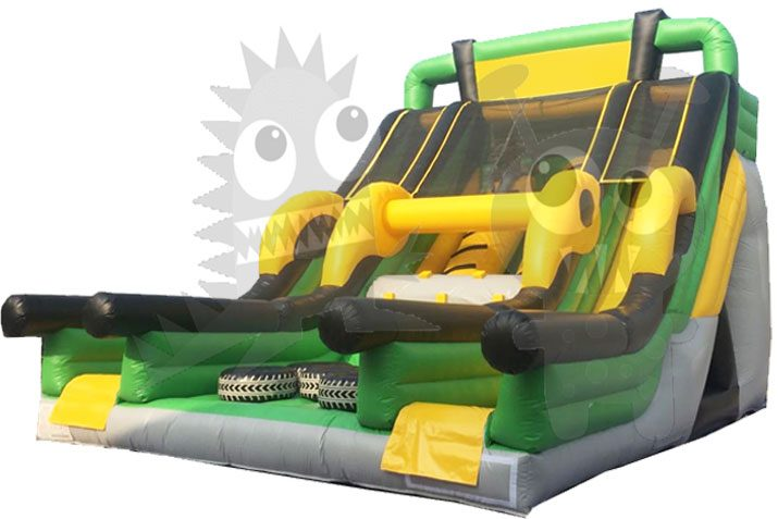 Pipe Rush 30' Inflatable Dry Slide Double Lane Commercial Inflatable For Sale