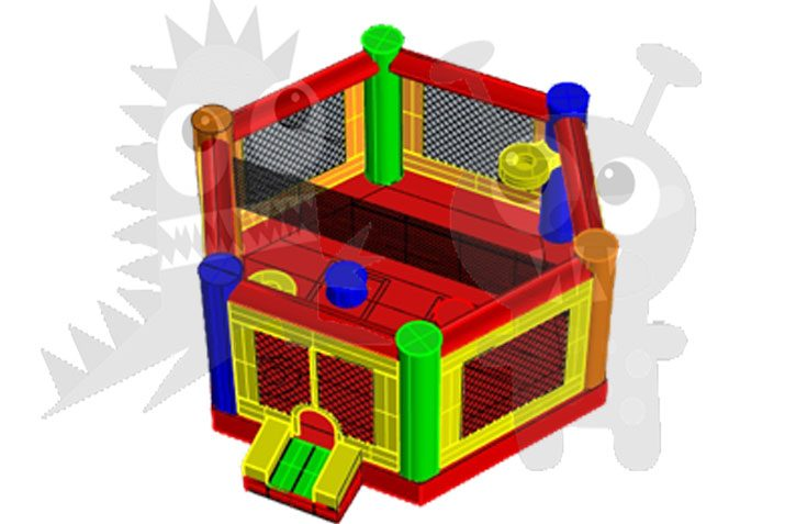 Inflatable Multiple Games Octodome Sports Game Commercial Inflatable For Sale