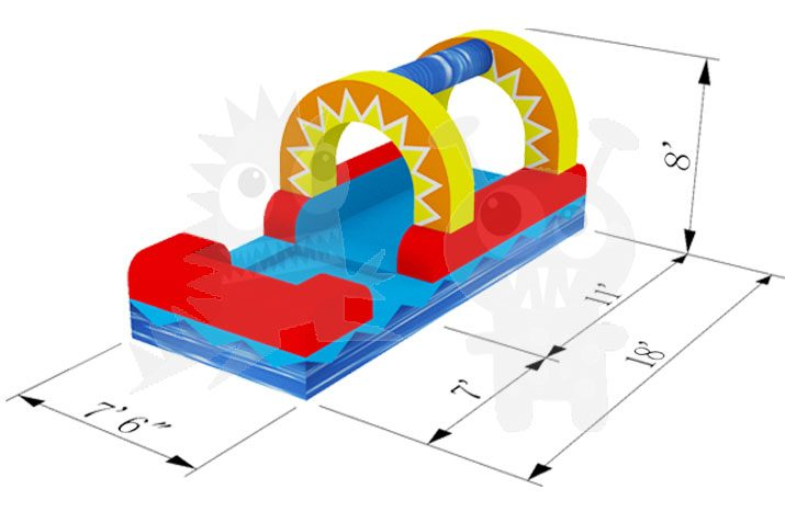 18' Inflatable Sunshine Water Slide Slip 'n Slide Commercial Inflatable For Sale