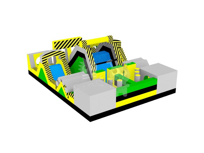 Toxic Escape Inflatable Hazardous Obstacle Course Commercial Inflatable For Sale