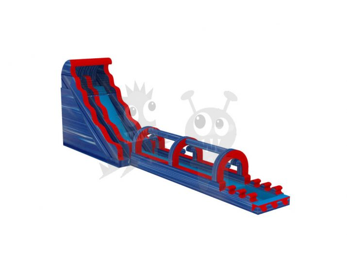 36' Foot Tsunami Wave Blue Waterslide Inflatable Water Park Commercial Inflatable For Sale